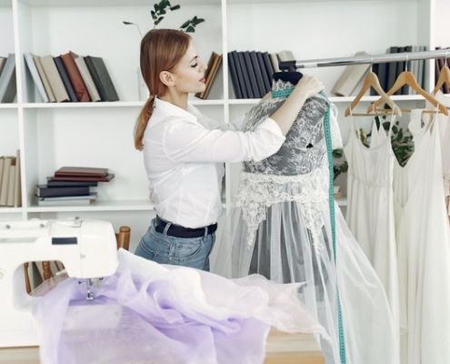 Woman working in womens clothing store in Townsville