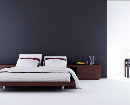 Fold away bed in a modern room