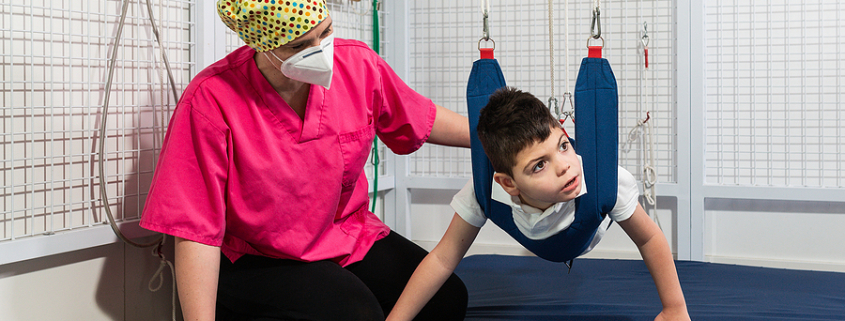 Little boy attending an occupational therapy for children